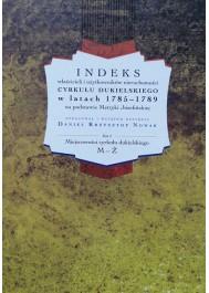 Indeks właścicieli i użytkowników nieruchomości cyrkułu dukielskiego, tom II