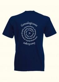 Man T-shirt Genealogicznie zakręcony