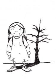 Dziewczynka i drzewko