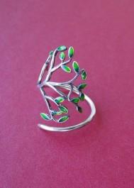 Pierścionek srebrny drzewko