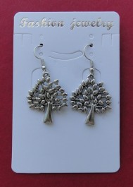 Earrings with trees