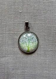 Wisiorek drzewko - kaboszon