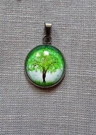 Tree - cabashon  pendant