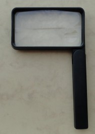 Folded magnifier two lenses 2x and 4x