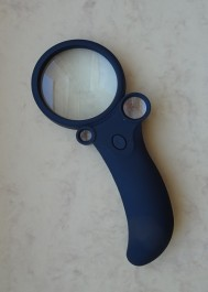 Lighted magnifier 55mm x2,5