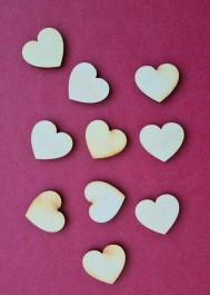 Wooden hearts 10 pcs