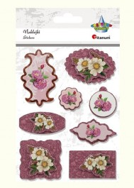 3D flowers stickers