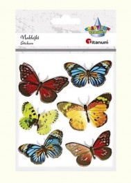 3D butterflies stickers