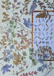 Naklejki vintage liście i rośliny
