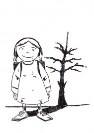 Dziewczynak i drzewko