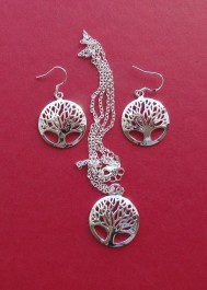 Jewelry set necklace and earrings